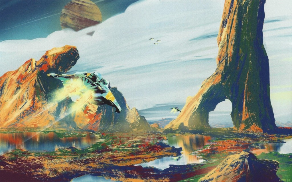 PUSH 2015 digital painting entitled 'Exploration' by Graeme Howard (painting purchased by Chancellor Thirsk!)