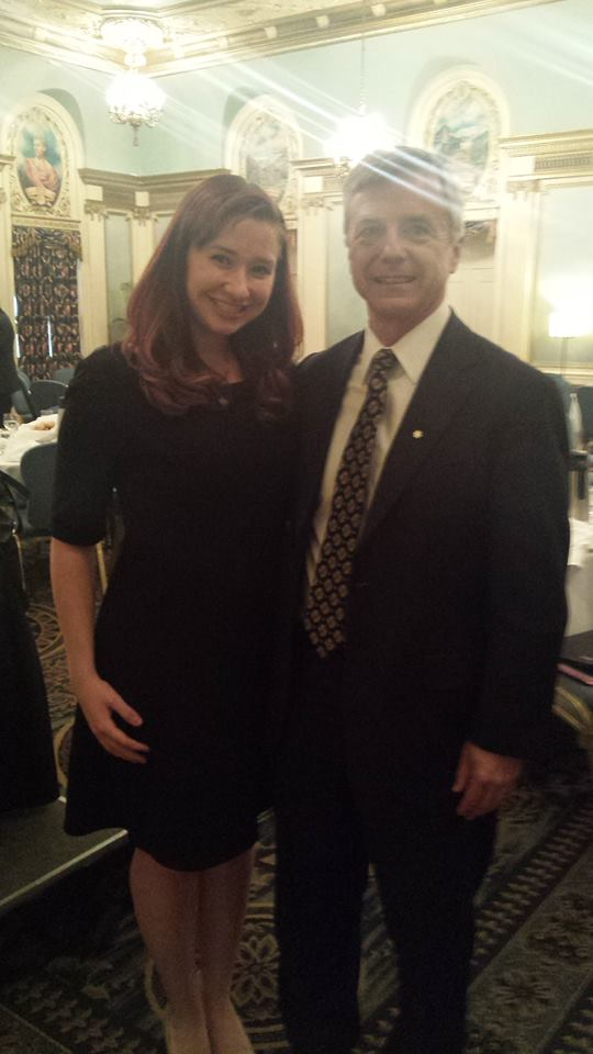 Tessa Major and I at the Rotary Luncheon on Oct. 20, 2015