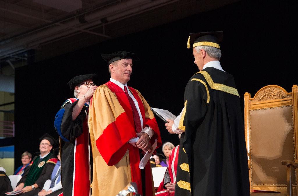 Geoffrey Cumming - business leader, economist and philanthropist who has provided transformational support for medical education and research at the University of Calgary - receives an honorary degree.