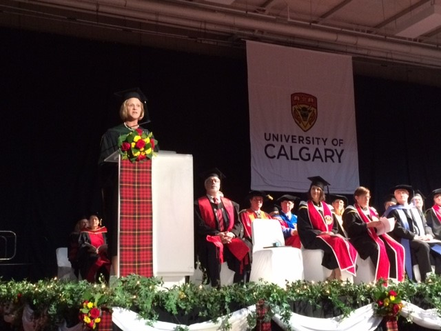 Dr. Janice Heard delivers the convocation address to grads at our Nov. 10 morning ceremony.