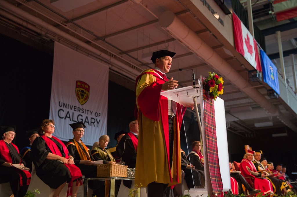 Dr. Sheldon KEnnedy spoke fervently from his heart and experiences for the benefit of our graduands.