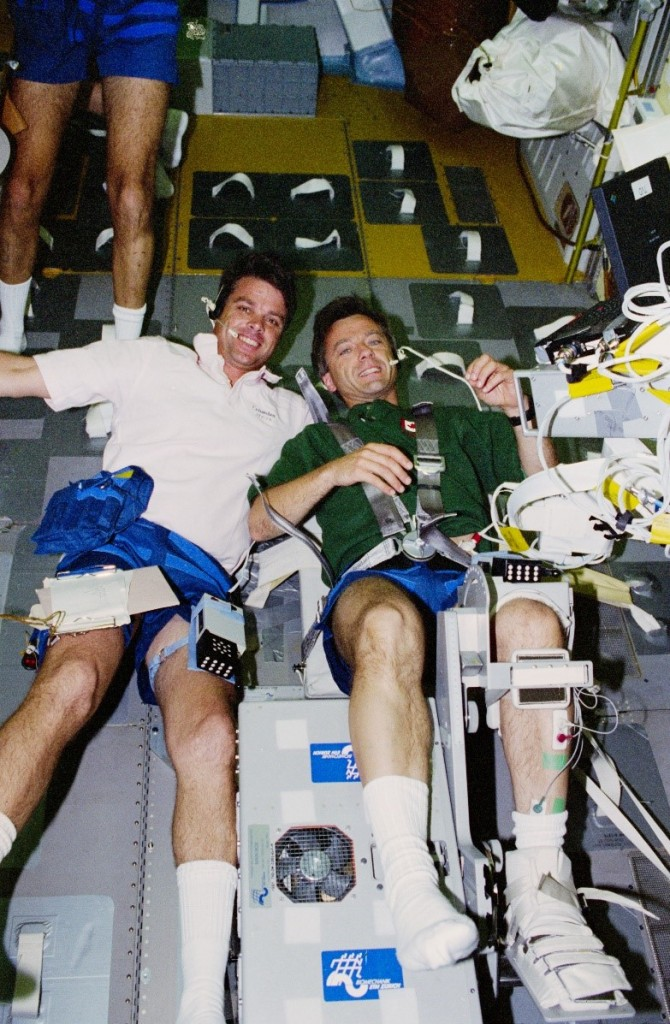 STS-78 crewmates: Kevin Kregel and Robert Thirsk