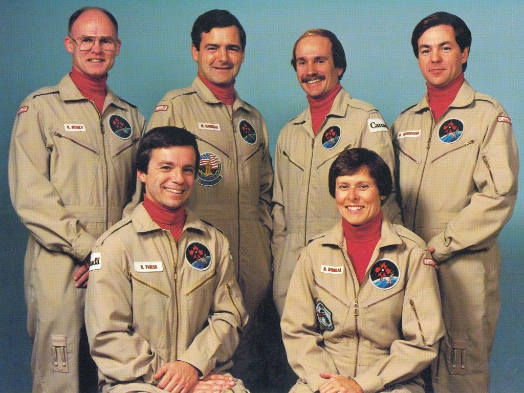 The Original Six (I think spaceflight must've caused the gray hair, wrinkles and creaky joints that we all exhibit today.)